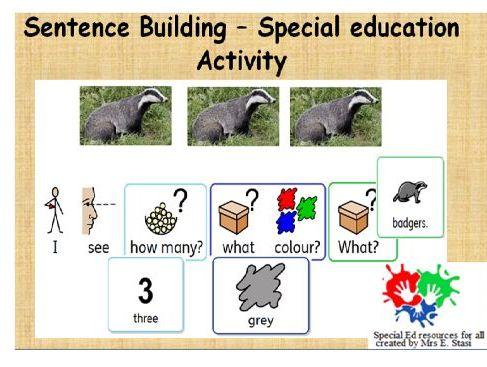 Building sentences - I see  polar, desert and woodland habitats activity