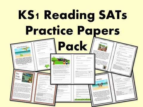 KS1 SATs Reading Paper Revision Pack 2018 – comprehension, revision, practice, content domains