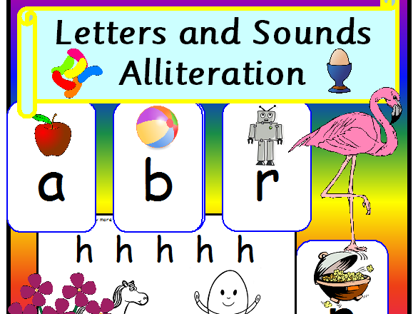 Alliteration Letters and Sounds EYFS Teaching Resources Phase 1