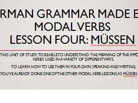 German modal verbs. Complete short lessons. Müssen