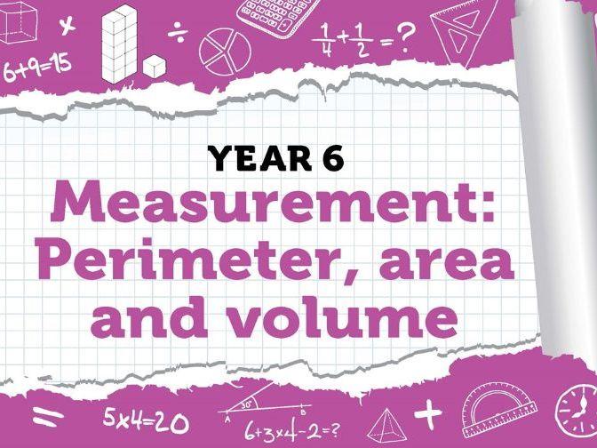 Year 6 - Measurement - Area, Perimeter and Volume - Week 9 - Spring - Block 5 - White Rose