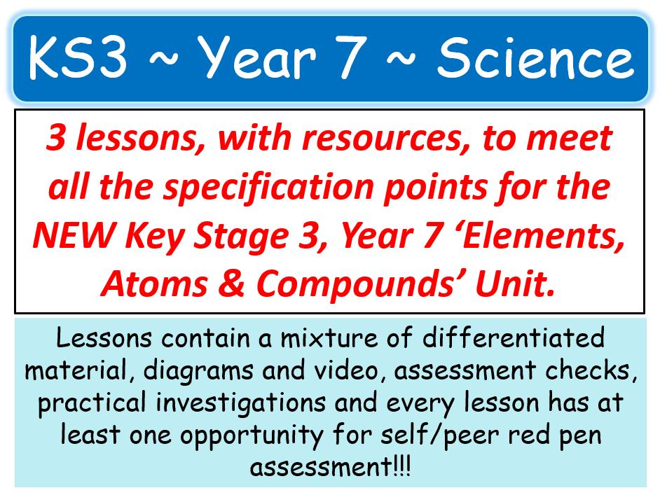 NEW KS3 ~ Year 7 ~ C2 Elements, Atoms & Compounds