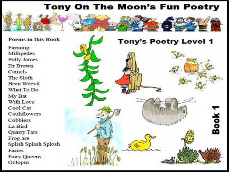 Children's Illustrated Poetry Book - Level 1 book 1