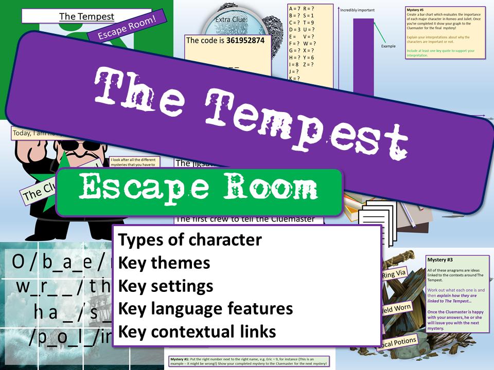 The Tempest Escape Room
