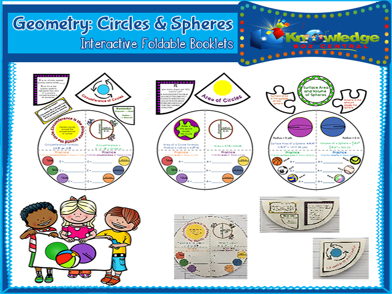 Geometry: Circles & Spheres Interactive Foldable Booklets