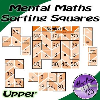 Mental Math Sorting Puzzles - Upper