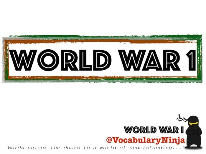 World War 1 Topic Vocabulary Pack