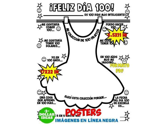 100 DÍAS DE ESCUELA | ACTIVIDADES | POSTER| VESTIDO