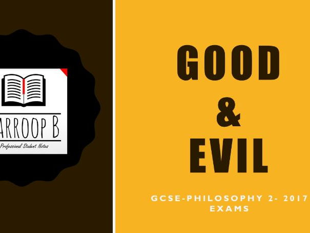GCSE Philosophy OCR B Good & Evil Revision Notes