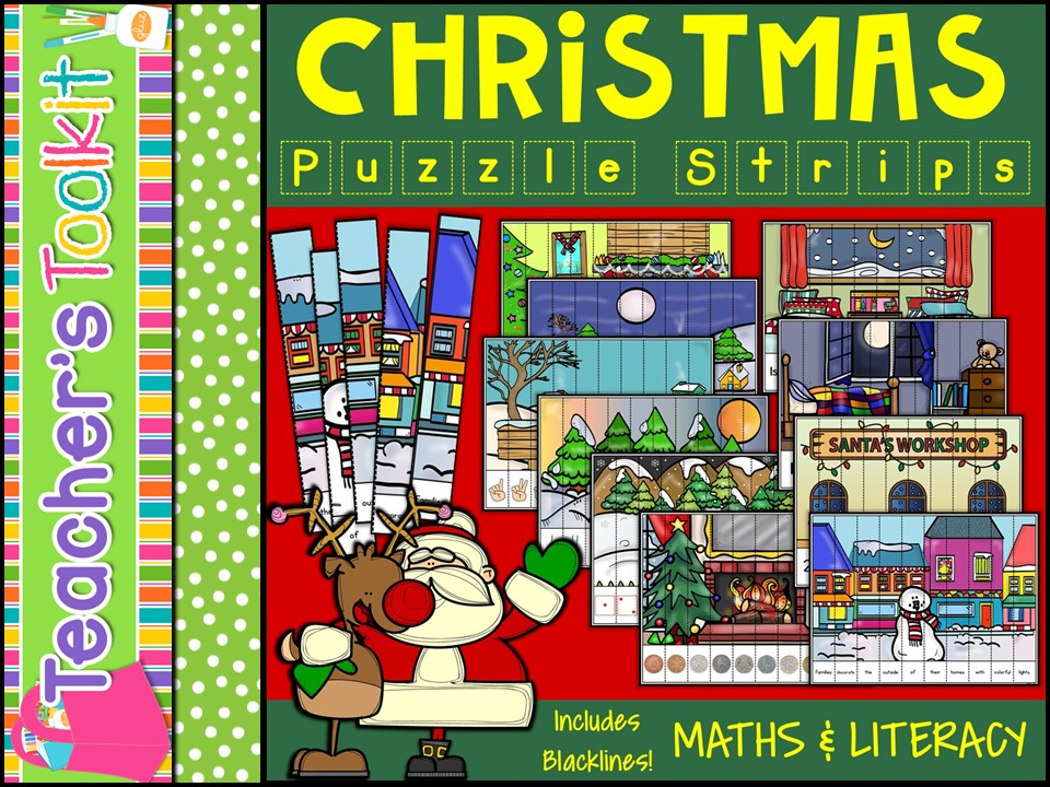 Christmas Puzzle Strips