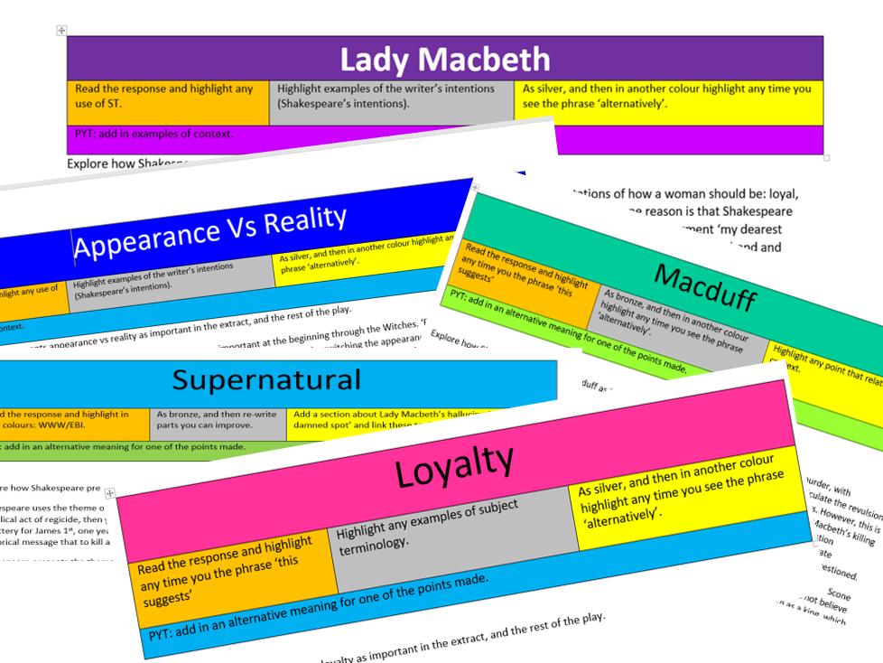Macbeth x5 Model Answers