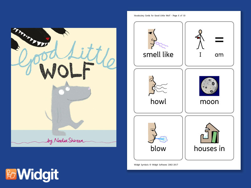 Good Little Wolf  - Big Book Flashcards with Widgit Symbols