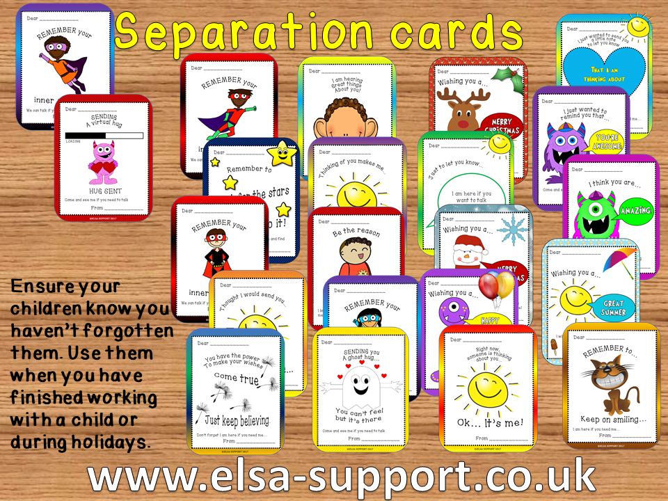 Separation Cards - Thinking about you...