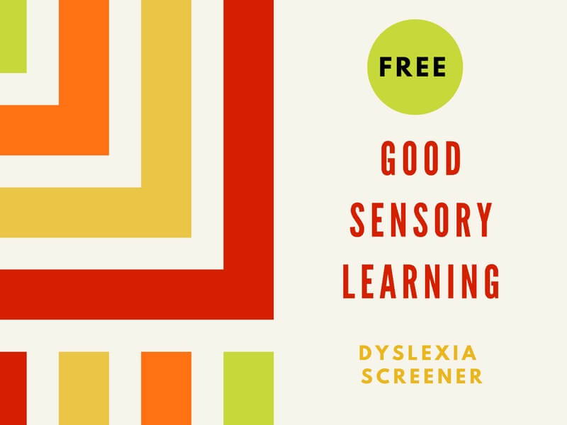 Dyslexia Screener: Free from Good Sensory Learning and by Dr. Erica Warren