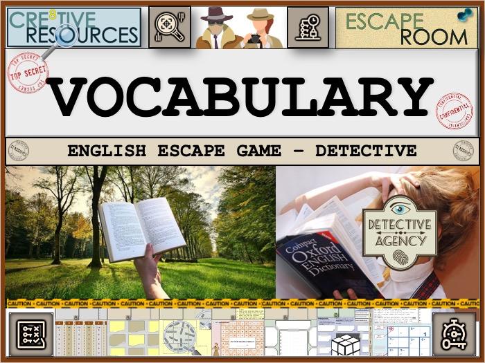 English vocabulary Escape Room