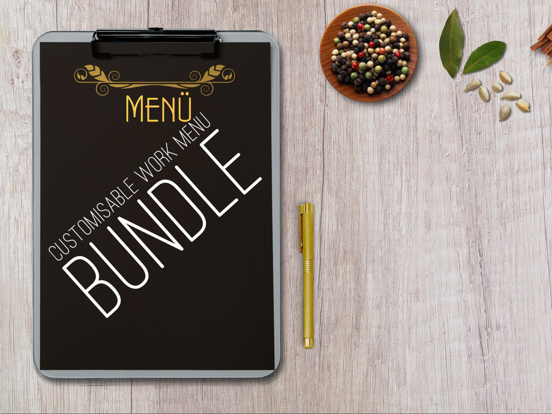 Customisable menu templates