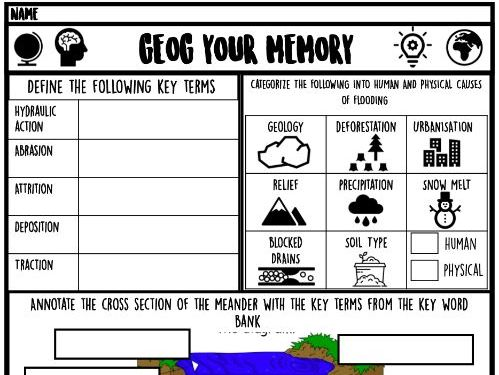 Geog your memory- Rivers