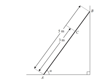 Statics of Rigid Bodies (Ladders and Drawbridges) Exam Questions and solutions