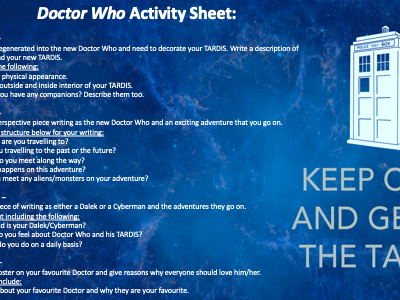 Doctor Who English Activity Worksheet