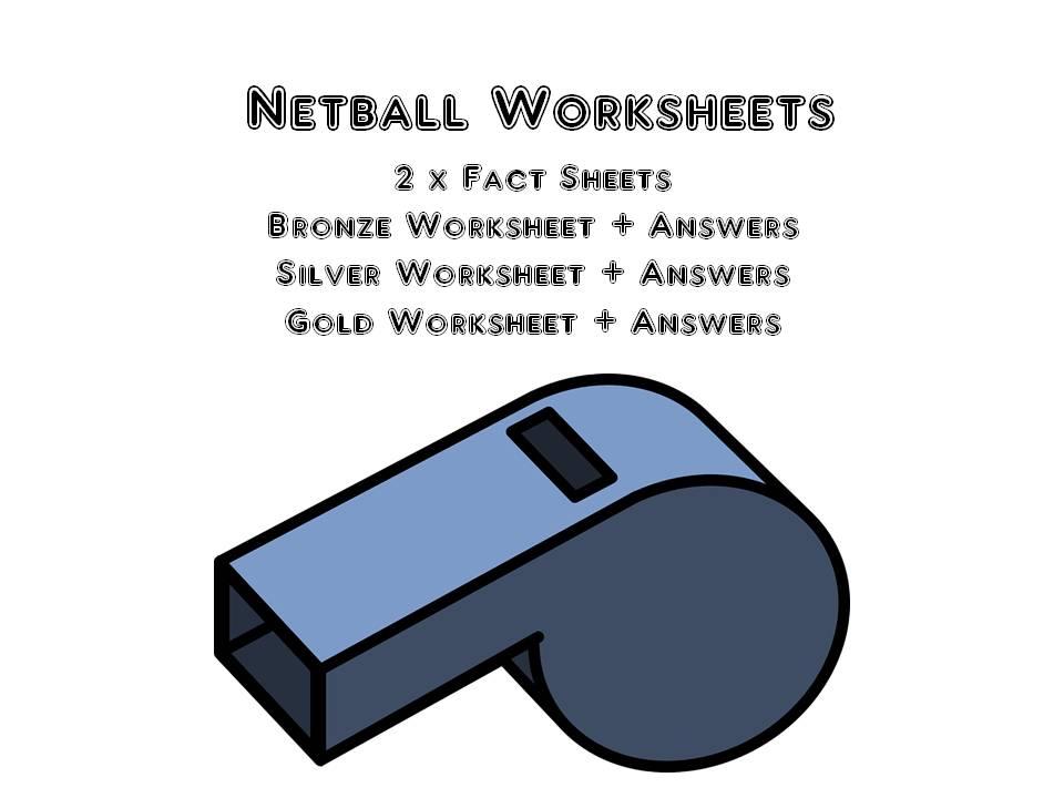Netball Worksheets