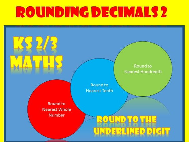 Rounding Decimals 2: KS2 and KS3 Maths Worksheets