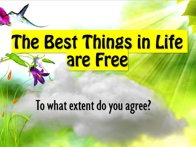 'The Best Things in Life are Free' ASSEMBLY
