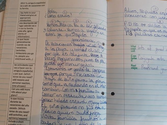 IGCSE Spanish: Extended writing practice booklet