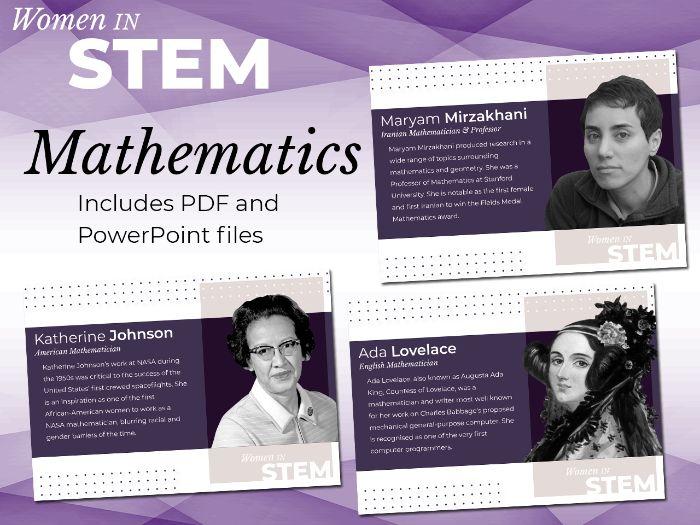 Women in STEM Posters - Mathematics