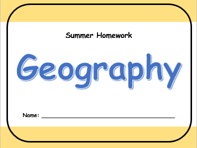 OUP Geog.1 Year 7 Summer Homework