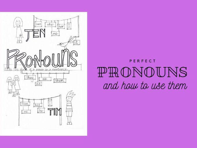 Parts of Speech - Nouns and Pronouns