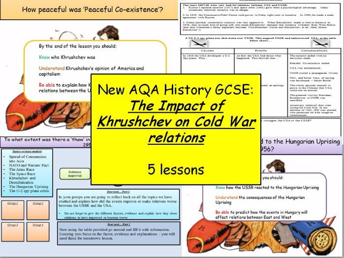 New AQA History GCSE: The development of the Cold War Part Two (Khrushchev) (5 Lessons)