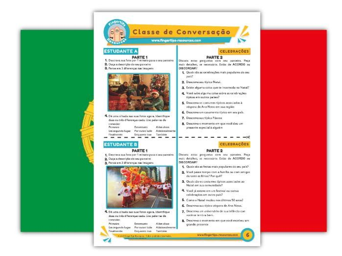Celebrações - Portuguese Speaking Activity