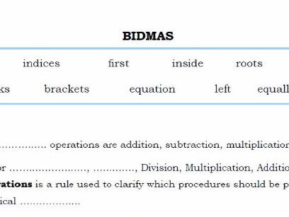 BIDMAS