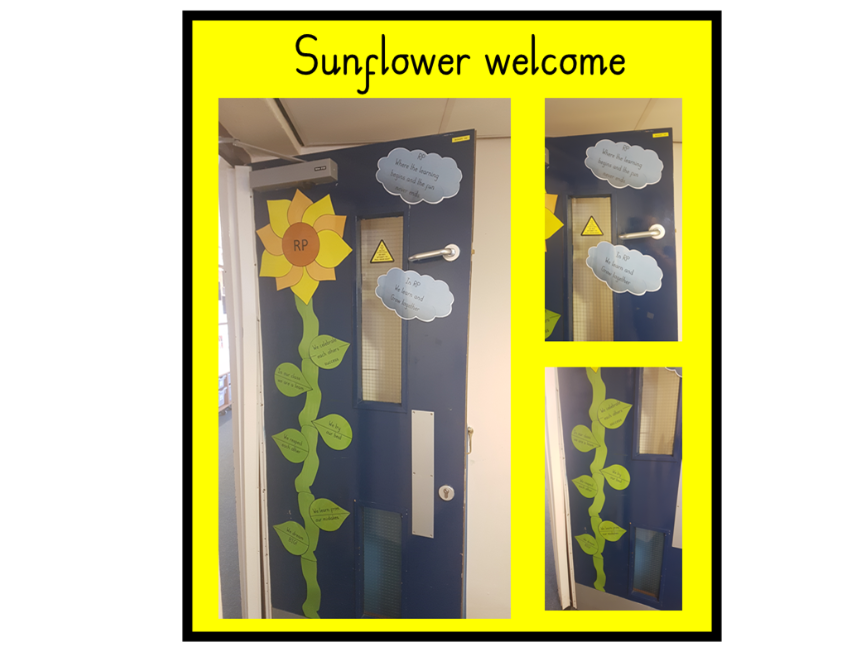 Sunflower door display