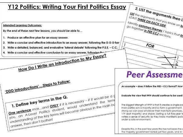 Politics Essay Writing Skills (Edexcel)