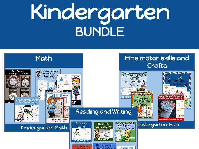 Kindergarten Bundle: Over 600 Pages of Kindergarten FUN