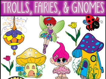 Trolls, Fairies, and Gnomes Clip Art