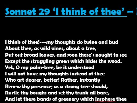 Sonnet 29 AQA