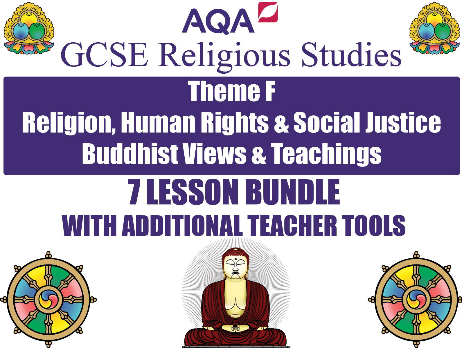 GCSE Buddhism - Religion, Human Rights & Social Justice (7 Lessons)