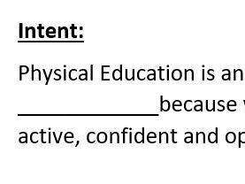 Primary PE Curriculum - Intent / Implementation / Impact