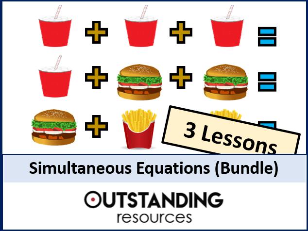 Simultaneous Equations BUNDLE - (3 lessons)