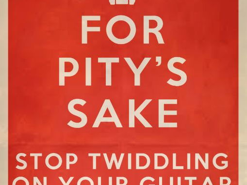 For Pity's sake! retro style poster