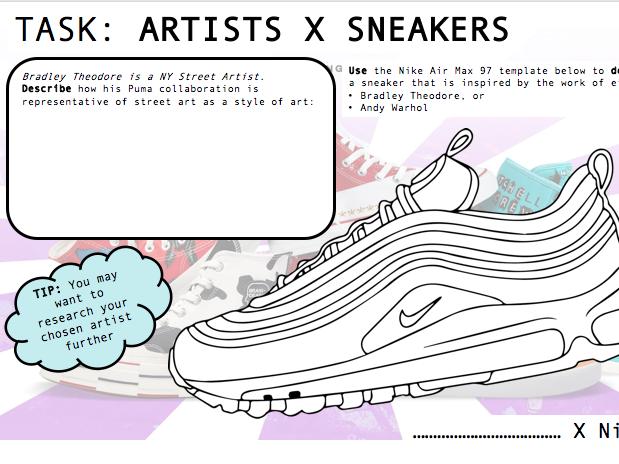 Art / Design Worksheets - TRAINER DESIGN & ARTISTS