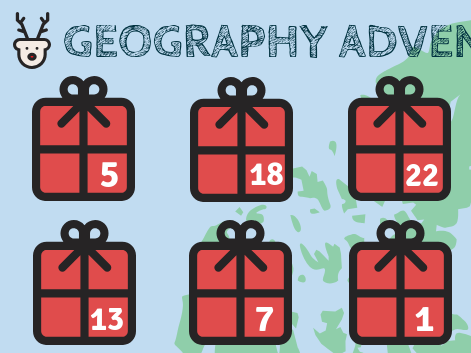 Geography-Themed Advent Calendar