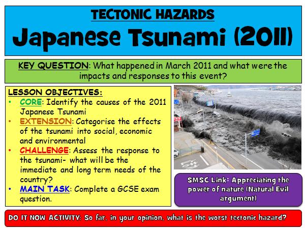 Japan 2011 Tsunami Lesson