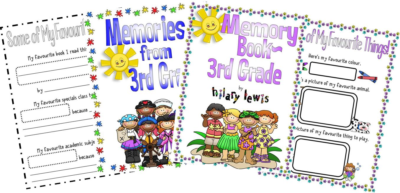 End of the Year Memory Book-Third Grade
