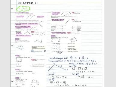 AS Pure Maths notes- Chapter 11 (Vectors)