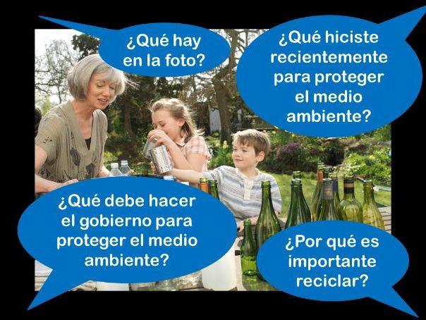 Spanish GCSE Higher environment photo card practice