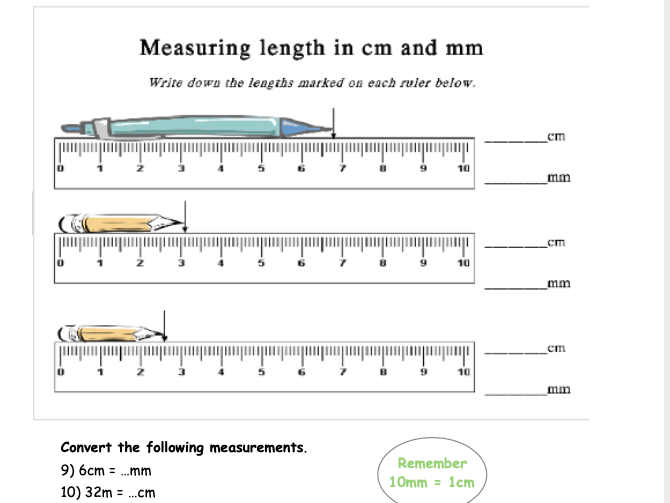 Measuring and Converting Length Activity