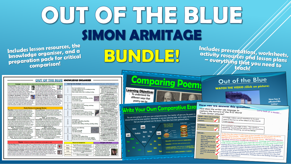 Out of the Blue - Simon Armitage - Bundle!